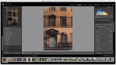Image shows the Adobe Lightroom interface