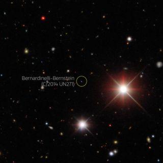 An image taken by the Dark Energy Survey shows Comet Bernardinelli-Bernstein in October 2017.