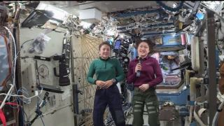 NASA astronauts Jessica Meir (left) and Christina Koch are scheduled to take a spacewalk together on Oct. 21, 2019.