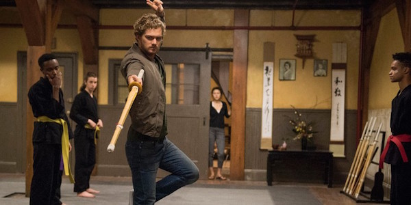 Finn Jones as Danny Rand training in Iron Fist