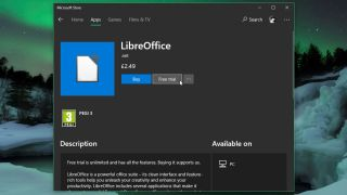 LibreOffice in the Microsoft Store