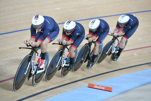 Great Britain race to gold in world record time in the team pursuit at 2016 Olympic Games (Watson)