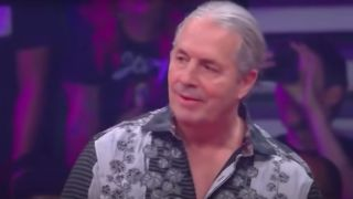 Bret Hart at an AEW event in 2019