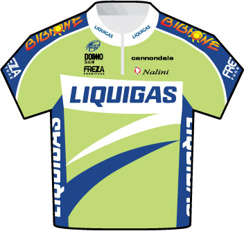 Liquigas Tour de France 2009 team jersey