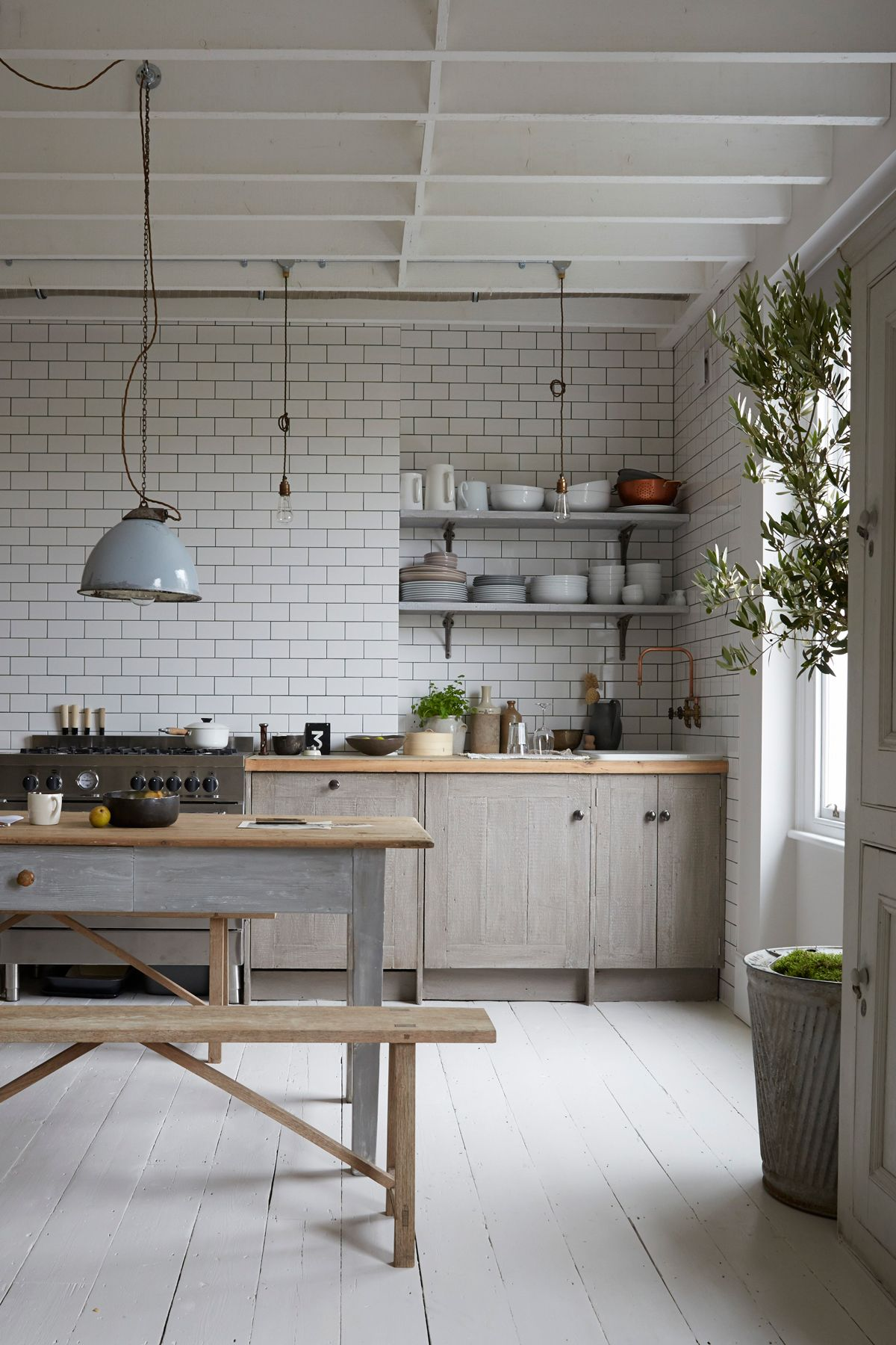Explore an elegantly rustic Victorian flat in London