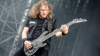 David Ellefson of Megadeth performs live at Gods of Metal Festival in Milano, Italy, on June 2 2016