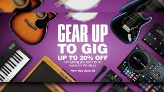 Take center stage with 20% off everything you need to play live at Guitar Center