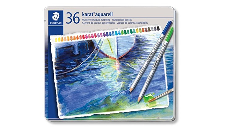 Watercolour Pencils: set of Staedtler Karat Aquarell pencils