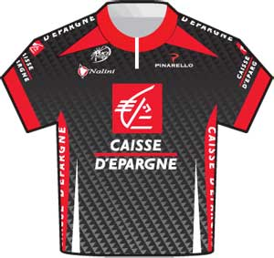 Caisse d'Epargne jersey Tour de France 2010