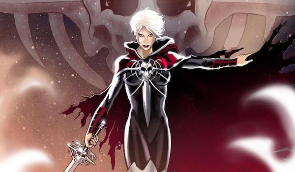 Phyla Vell holding sword
