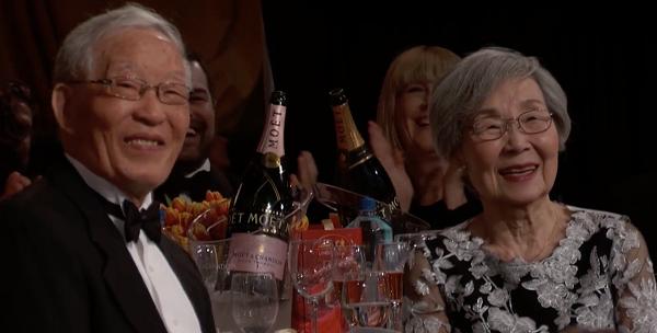 Sandra Oh Parents Golden Globes NBC