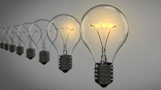 Image of a row of light bulbs