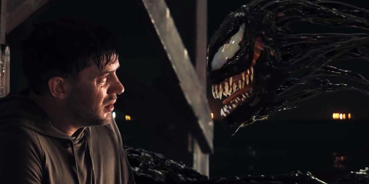 Eddie talking to Venom