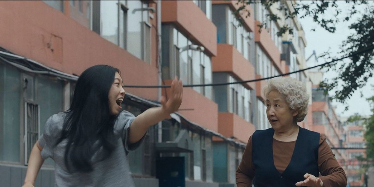Awkwafina and Zhao Shuzhen in The Farewell
