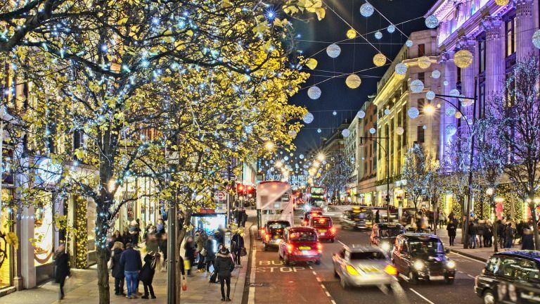 Christmas shopping on Oxford Street