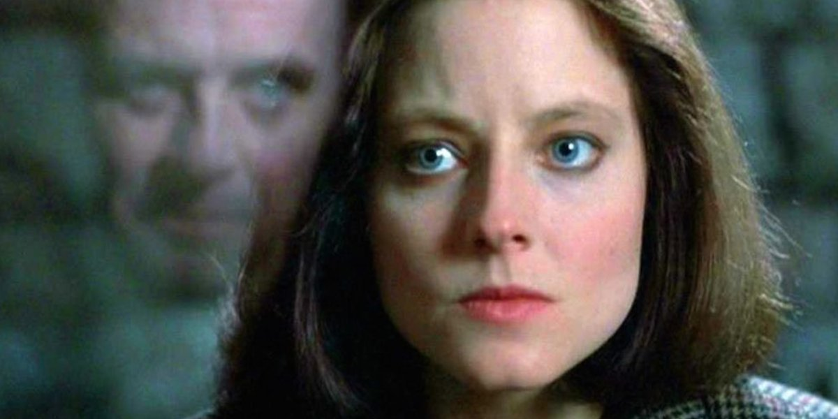 Anthony Hopkins and Jodie Foster in The Silence of the Lambs