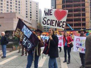 AGU Scientists Rally