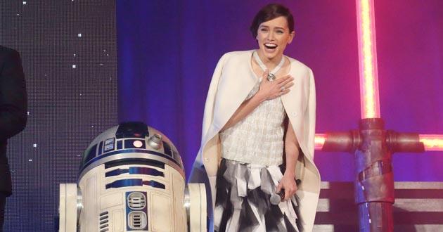 Daisy Ridley doing Star Wars PR