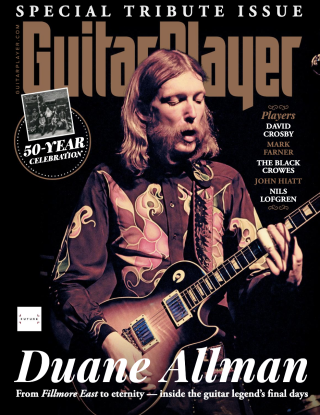 The cover of Guitar Player's October 2021 issue, featuring Duane Allman