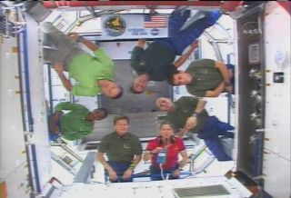 Astronauts Open Space Station's New Room