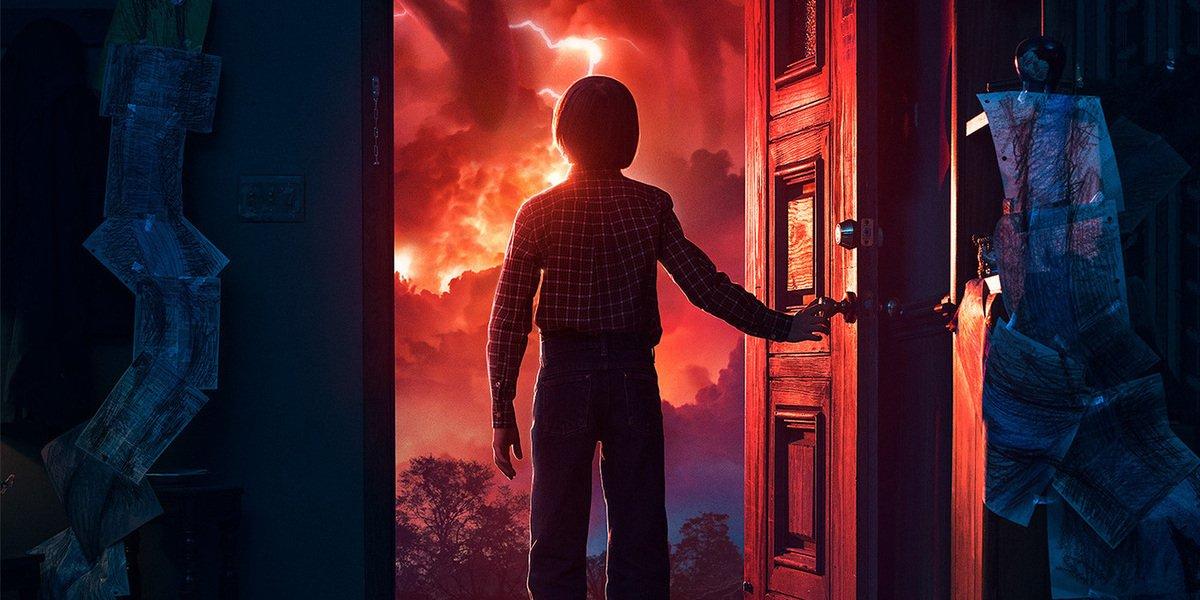 stranger things season 2 poster will byers door mind flayer netflix