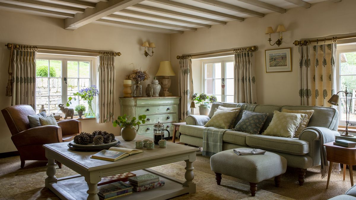 Inside an ancient thatched cottage in Dorset – updated in style