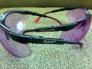 O2Amps glasses, which enhance perception of skin color.