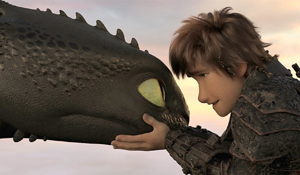 Toothless and Hiccup in How to Train Your Dragon 3