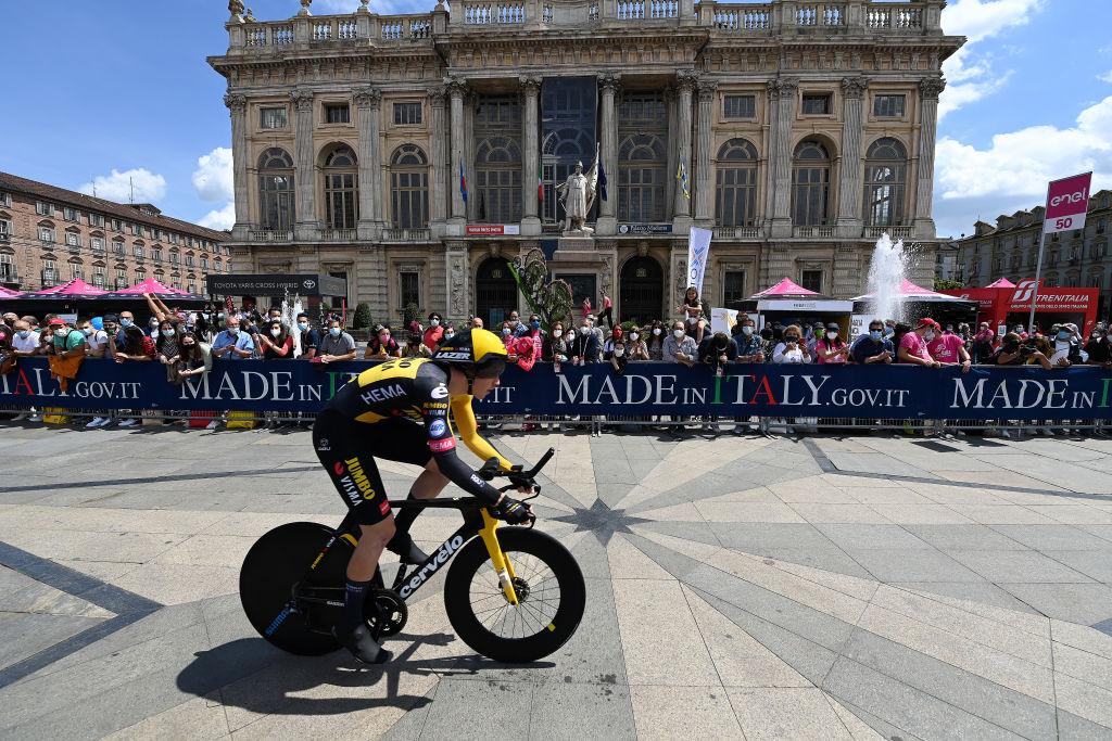 Dylan Groenewegen (Jumbo-Visma) was back racing at the Giro d'Italia
