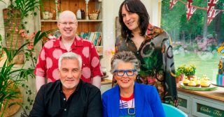 The hosts of The Great British Bake Off.