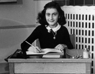 Anne Frank, 6, at school in Amsterdam in 1940.