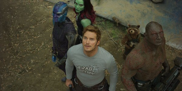 Nebula, Star-Lord, Gamora and Drax in Guardians of the Galaxy Vol. 2