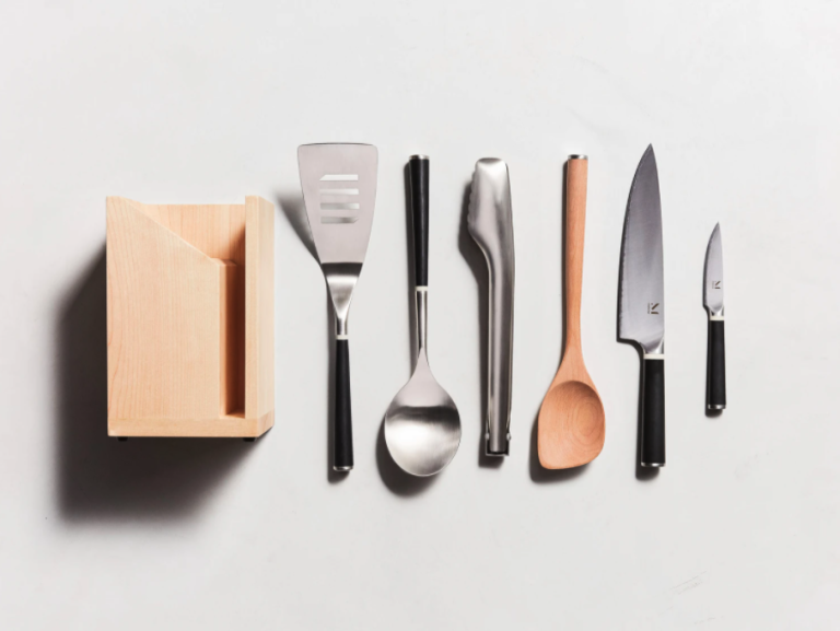 Kitchen Essentials in a row