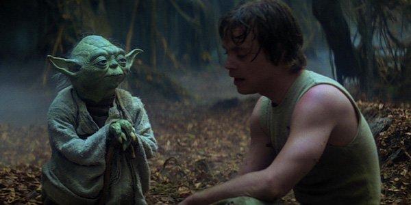 Yoda and Luke Skywalker in The Empire Strikes Back