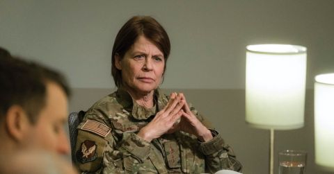 On 'Resident Alien,' Linda Hamilton plays General McCallister, a military operative determined to acquire Harry's alien ship — and if possible, Harry as well.