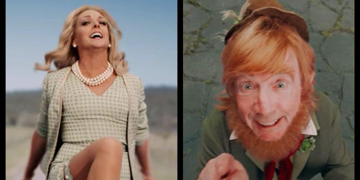 Jane Krakowski and Martin Short in their guest roles on Schmigadoon! in the trailer.