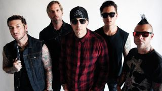 Line-up shot of US five-piece Avenged Sevenfold