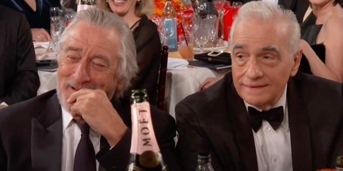 Robert De Niro and Martin Scorsese at the 2020 Golden Globes