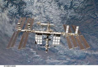 International Space Station with Earth backdrop