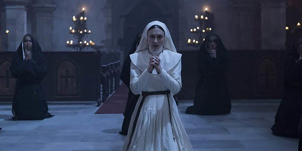 The Nun Taissa Farmiga Sister Irene Praying With Other Nuns