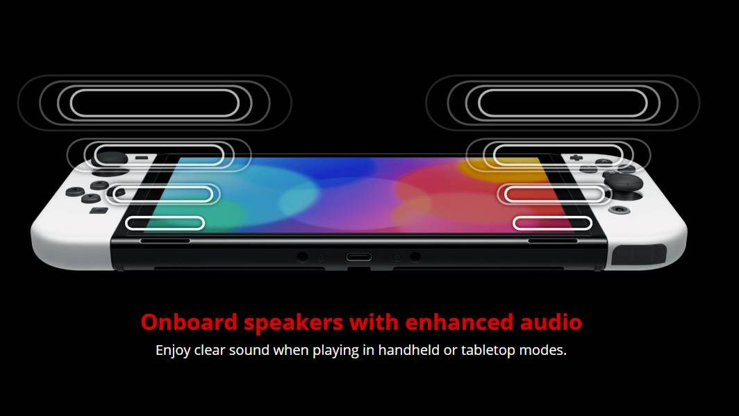 Nintendo Switch OLED new speakers and audio quality