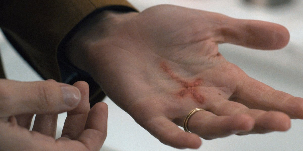 evil season 1 kristen's cross burnt hand cbs paramount+