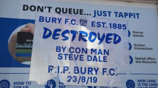 Bury destroyed sticker