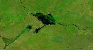 spring floods in the zambezi river