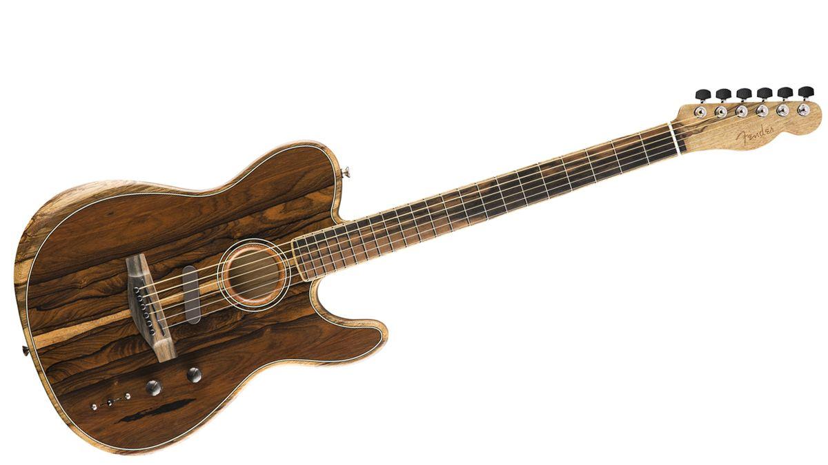Fender releases the Acoustasonic Telecaster with very exotic ziricote top