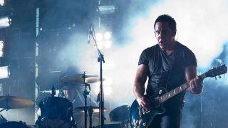 Trent Reznor on stage