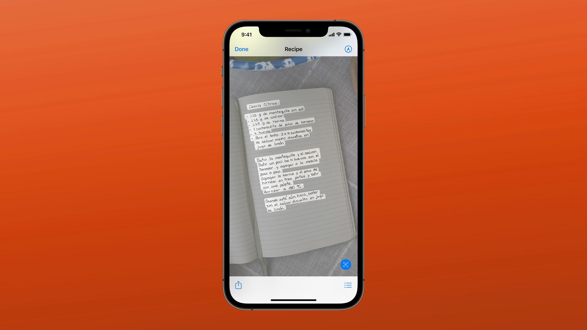iOS 15 live text