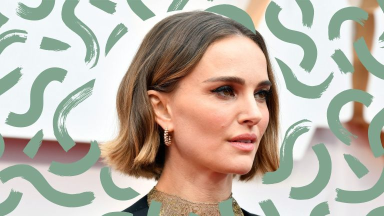 balayage for short hair main stylized image of natalie portman on the red carpet