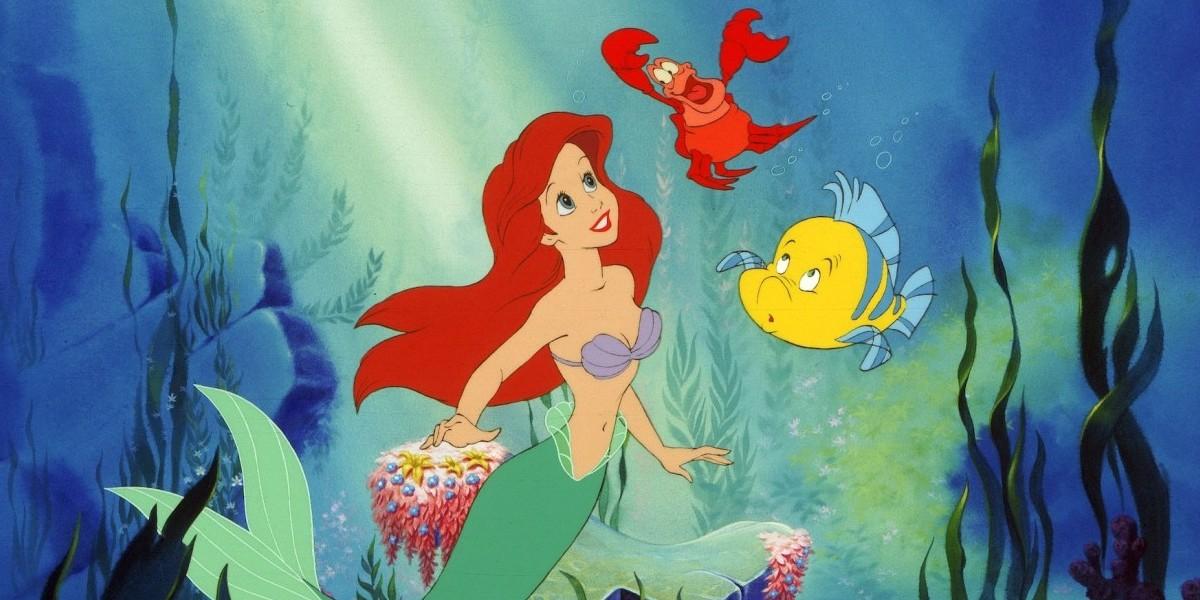 Ariel, Sebastian and Flounder in The Little Mermaid.