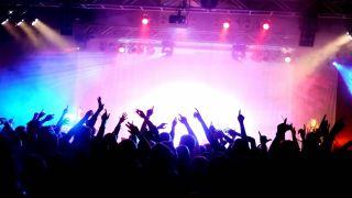 Live gig crowd
